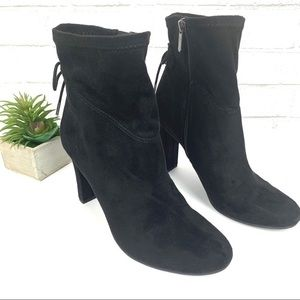 Sam Edelman black lace up booties size 7